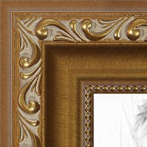ArtToFrames 8x10 / 8 x 10 Picture Frame Gold with beads .. 1.625'' wide (WOMD10051)
