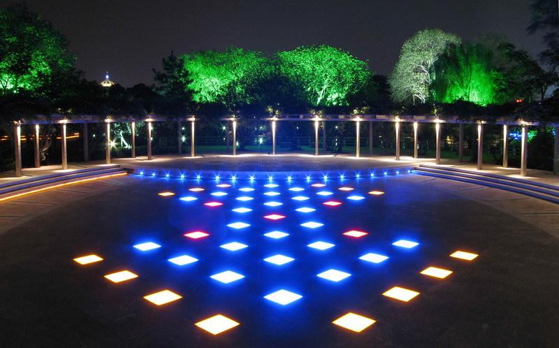 Ce Rohs Ip67 Garden Glass Light Up Floor Tiles Led Stage