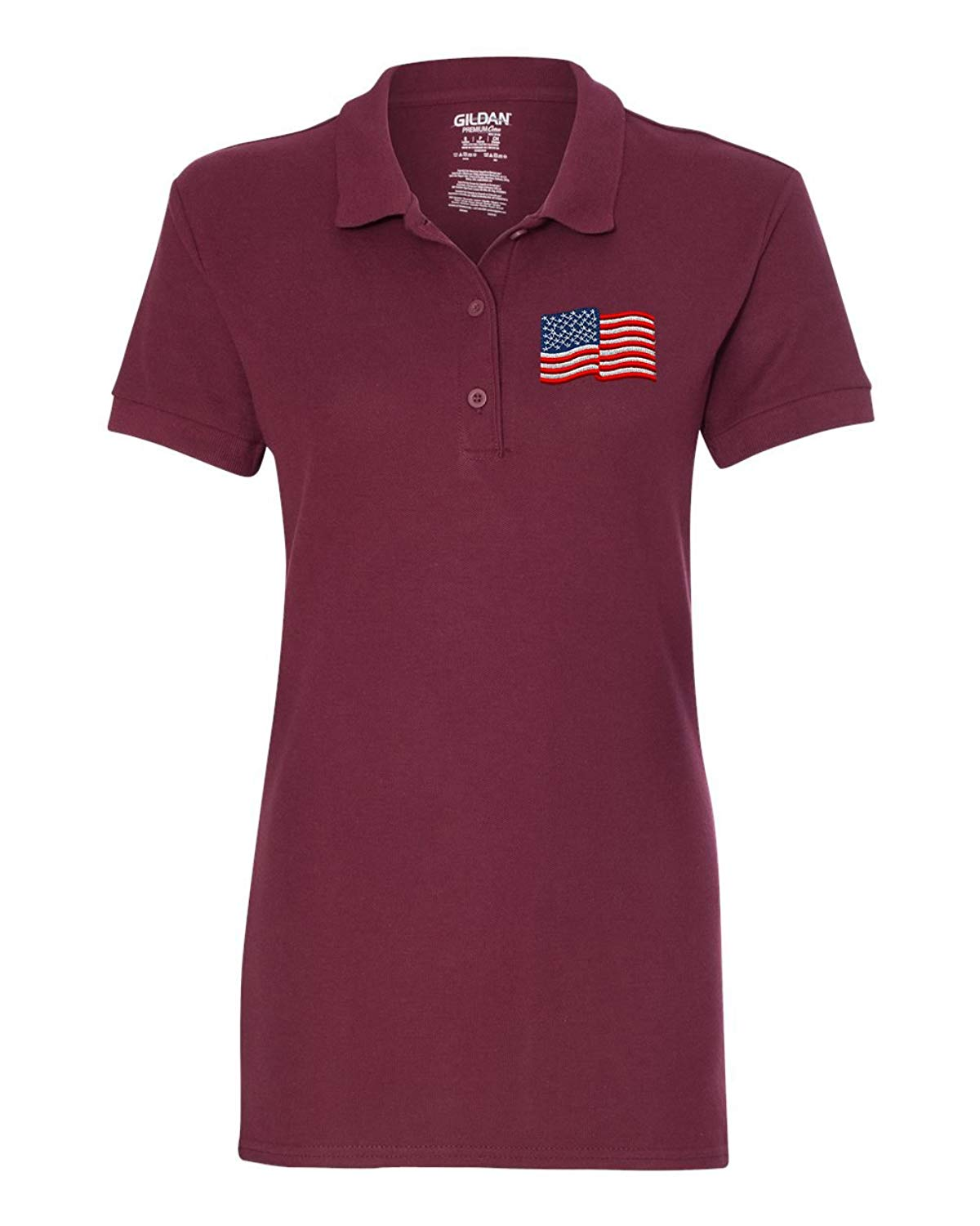 51e7fe42 Get Quotations · American Flag Custom Personalized Embroidery Embroidered  Golf WOMEN Polo Shirt
