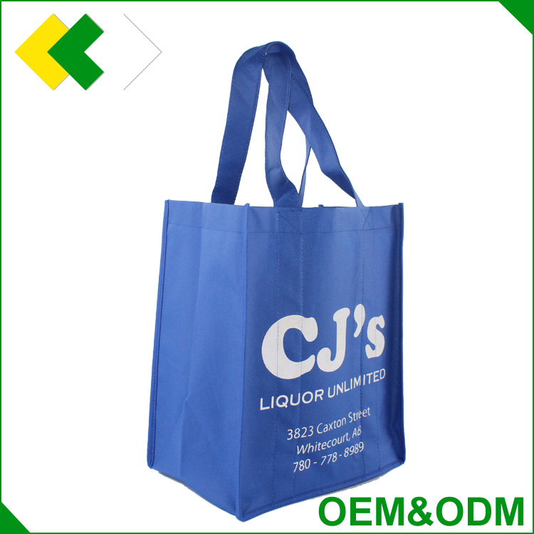 2016 new style non woven wine bag promotion customized wholesale 6 bottle winebag