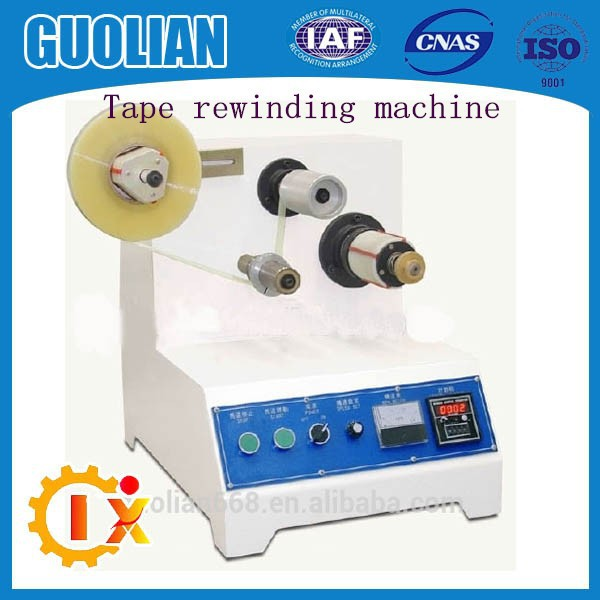 GL--200 Easy Operation Finished BOPP Tape Rewinding Machine, Packing Tape Salvage Rewinder Machine