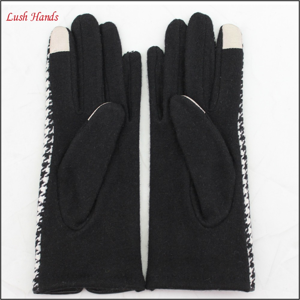 ladies cheap woolen thin hand gloves plover case gloves