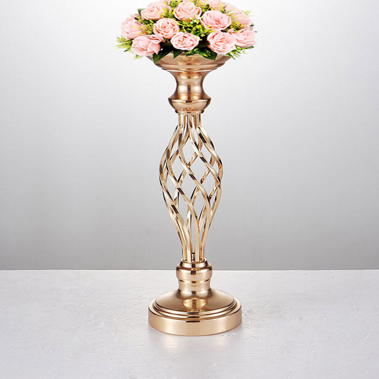 Flower Vases Table Centerpiece Tall Metal Candlestick For Wedding Candelabra