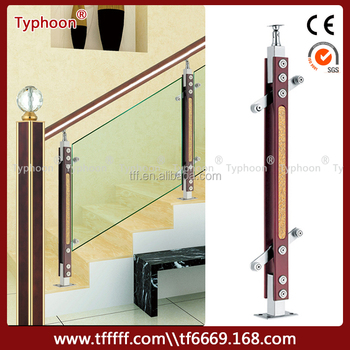 Typhoon Stair Parts Glass Railing Stainless Steel Post