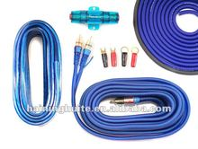 Complete 8 Gauge Amplifier Installation Kit for Car Audio---Matte PVC Various Color