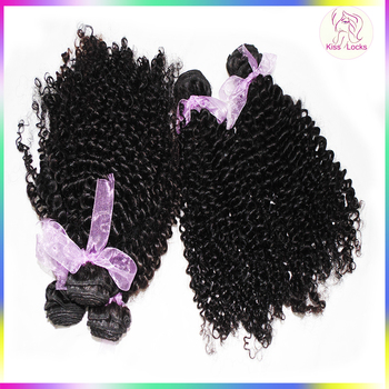 Shine Luster Peerless Indonesian afro Kinky curly Human Hair Bouncy Bundles Double Wefts Can be Straightened TOP 10A