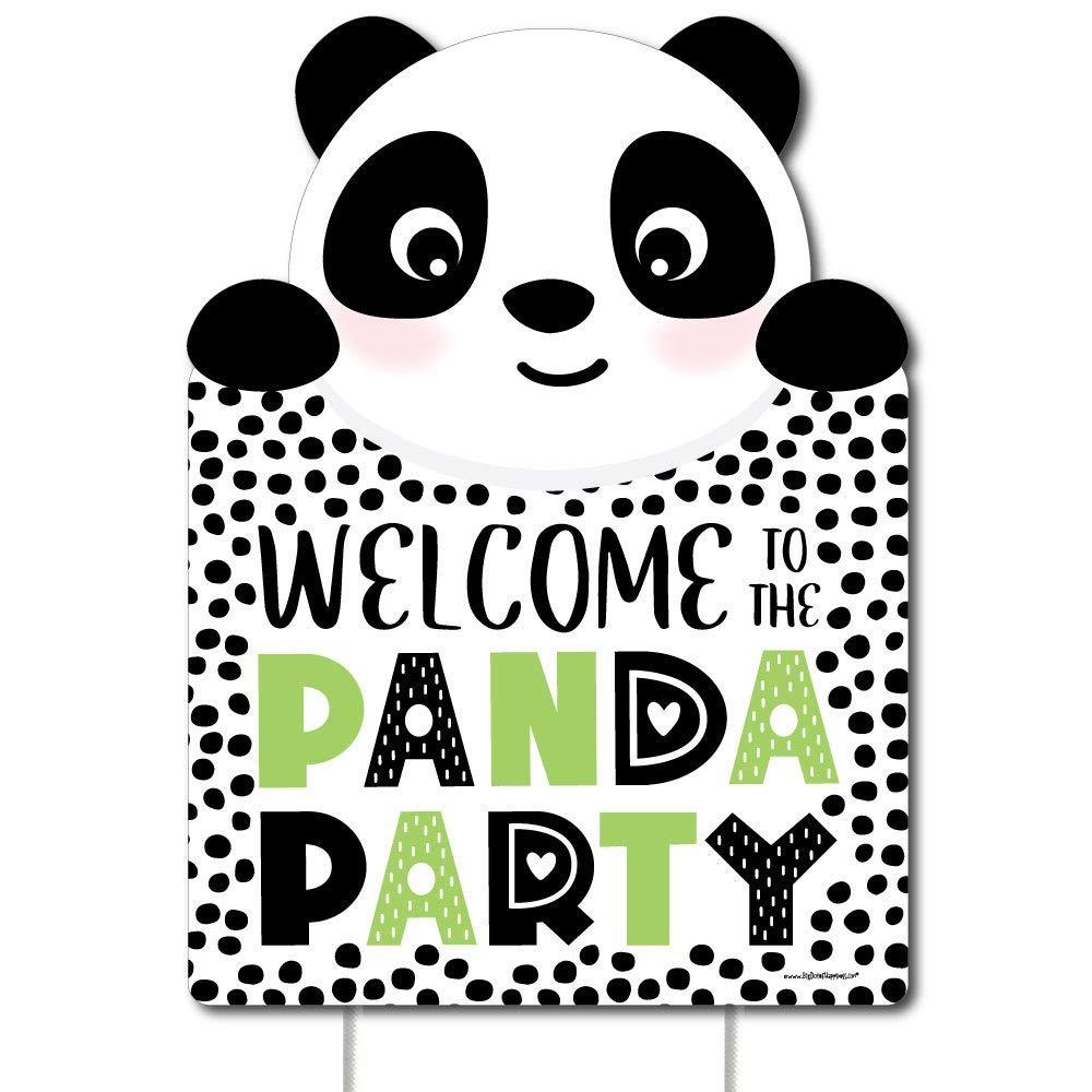 Big Dot of Happiness Party Like a Panda Bear - Party Decorations - Baby Shower or Birthday Party Welcome Yard Sign
