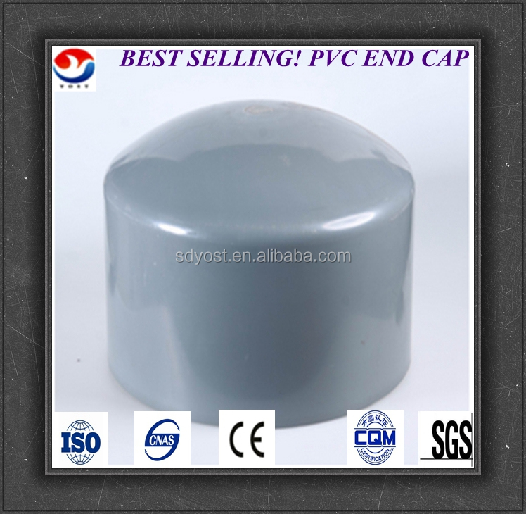 upvc pvcu water supply pipe fittings end cap end plug