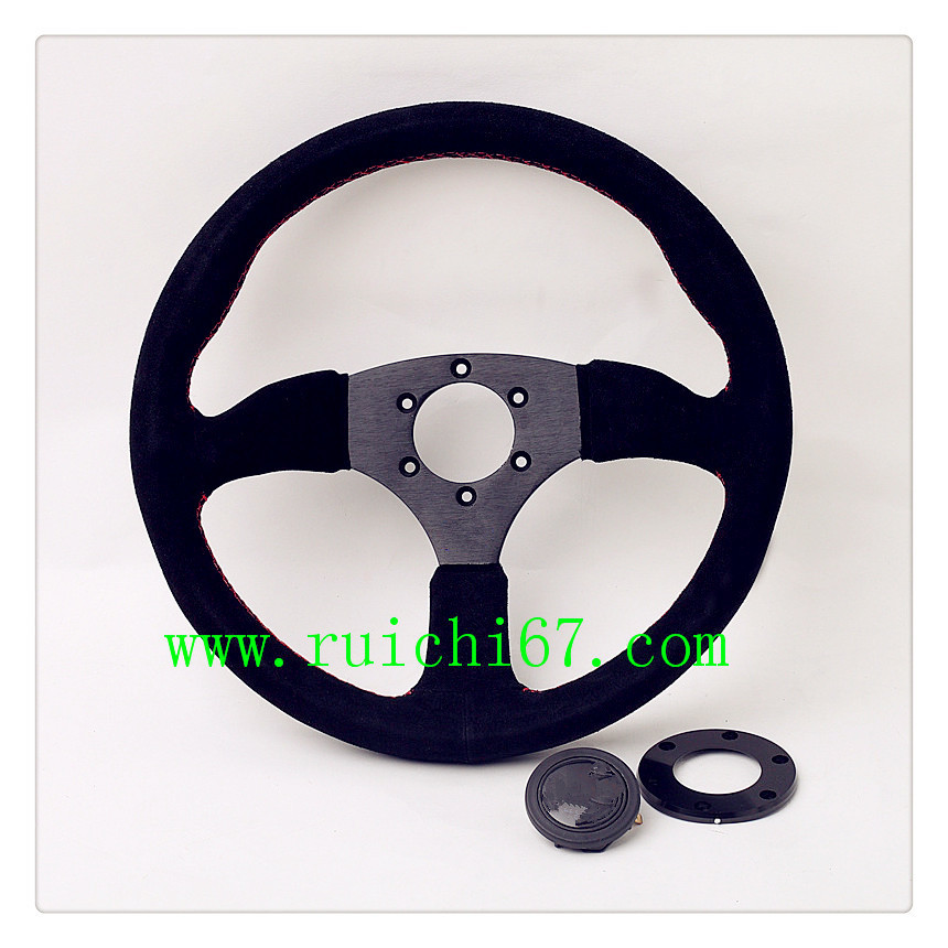 Interior Car Accessories Professional OEM Leather Performance Steering Wheel 350mm Suede(RC-5153)