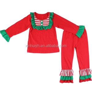 Wholesale Factory New Design Christmas Children Set Gril Funny Clothing