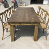 wholesale folding wooden dining table set for wedding