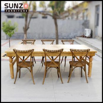 Wood Furniture Antique Table Rustic Banquet 8 Seater French Country Style Dining