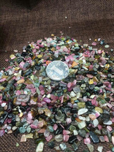 Natural Tumbled Ceragem Tourmaline Heatonnng Mat Wholesale Colorful Crystal Deciration