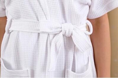 Горяч-продавая мода лето хлопок 100% хлопок-мужчин женщин любителей халат с коротким рукавом любителей халат вафли халат бесплатная доставка