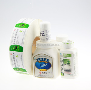 Adhesive waterproof customized size & color plastic labels for hdpe bottles