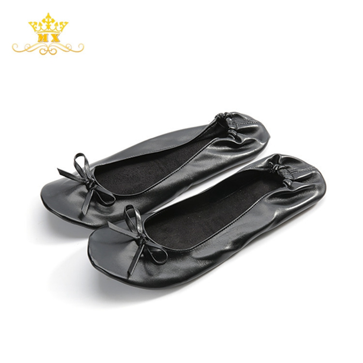 Ladies tops latest design rollable ballet flats fold up ballerina <strong>shoes</strong> in bag