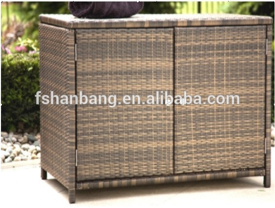 Waterproof Resin Wicker Patio Home & Garden Outdoor Rattan Storage ...