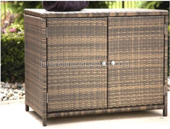 Waterproof Resin Wicker Patio Home & Garden Outdoor Rattan Storage Cabinets - Waterproof Resin Wicker Patio Home & Garden Outdoor Rattan Storage