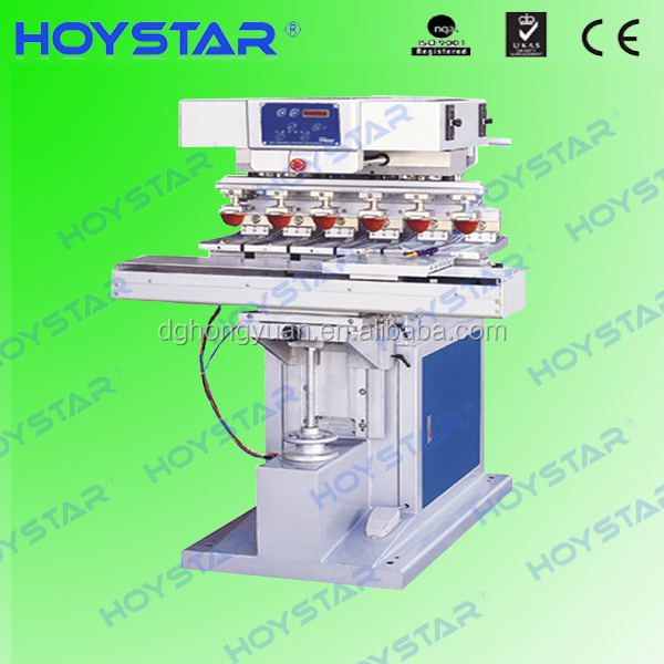 bowl tampo pad printing machine,open ink tray tampo 6 color pad printing machine