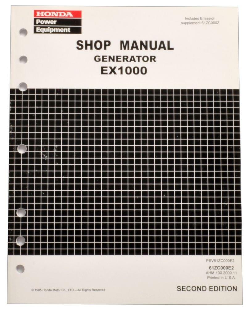 Honda EX1000 Generator Service Repair Shop Manual