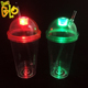 Night Kids Outdoor Travel Mug Plastic Light Up Tumbler Cups straw