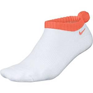 Nike Golf Women's Dri-Fit Pom Pom Socks, White/Turf Orange, 9-11