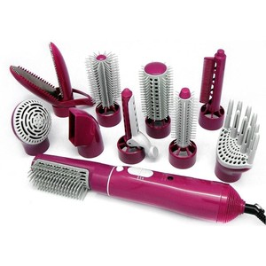 Private label 10 in 1Hot Air comb Kit for hair Styling different types of curler Hair Dryer and hot air brush