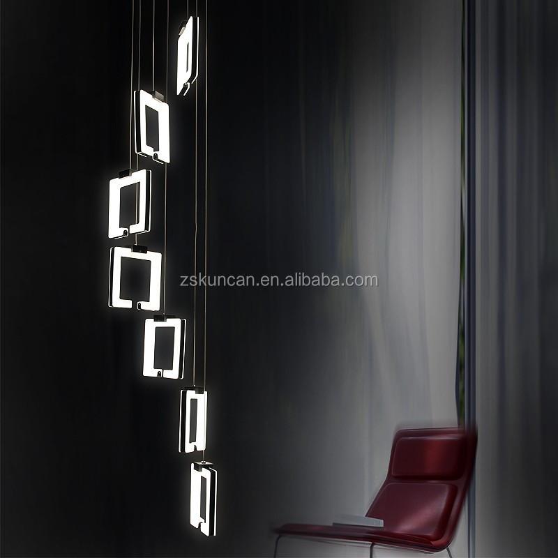 Diseño moderno de la escalera led lampara colgante lámparas y ...