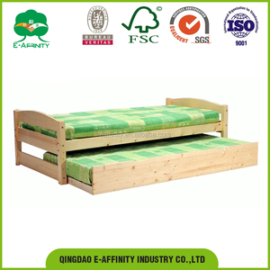JG-SR-030 pine children bed kids bed with drawers