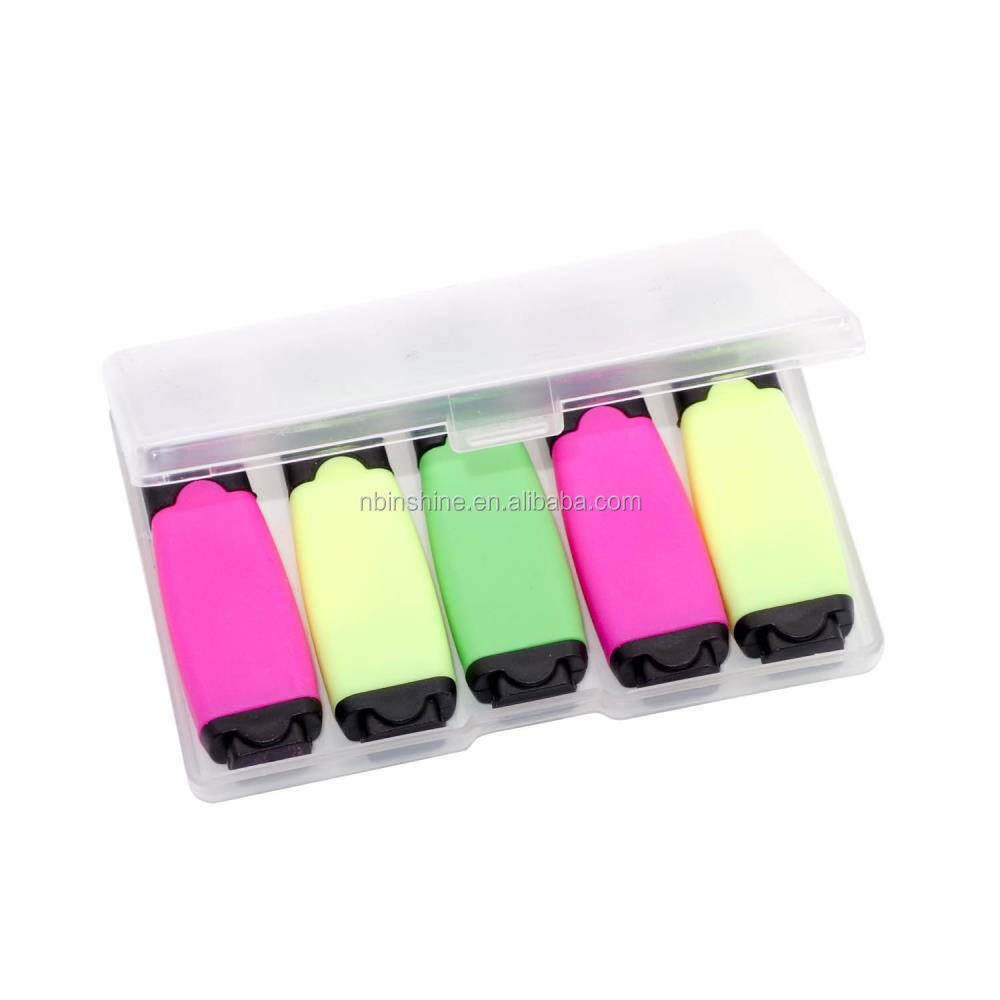 IN43715 Value mini highlighter pack , 5pcs mini highlighter mix color pack , highlighter marker