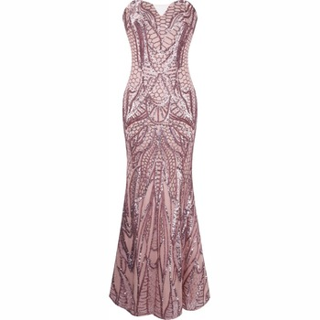 B32505a Oem Latest Design China Factory Off,shoulder Gold Sequined Gown  Women Evening Dress , Buy Pink Arabic Evening Gowns Dresses,Greek Gowns