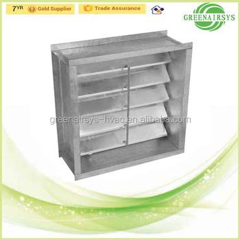 Aluminum Automatically Non Return Shut-off Damper For Air Conditioning  Ventilation - Buy Return Air Damper,Air Conditioning Damper,Non Return  Damper
