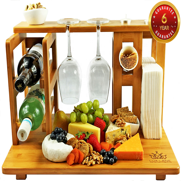 NEW <strong>All</strong>-In-One Top Cheese <strong>Board</strong> Serving Cutting Platter Tray Set
