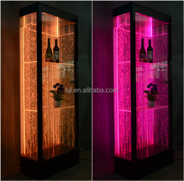 wine cabinets used acrylic led light bars