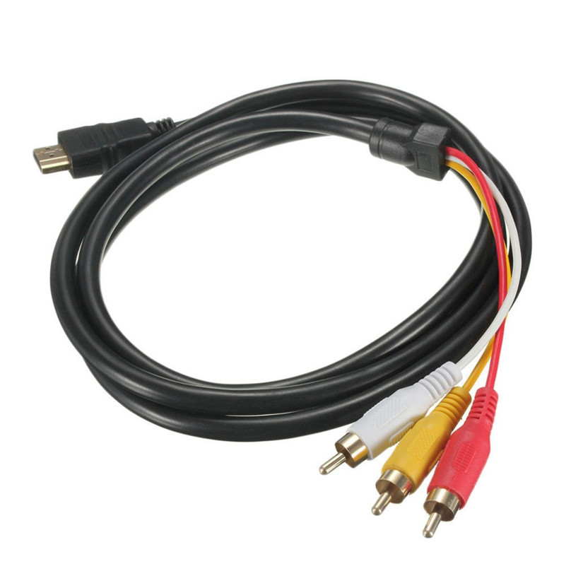 Hdmi To 3rca 3-rca 3 Rca Video Component Connection Cable Convert Hub Cord Line Wholesale For Hdmito3 Gold Connector 100% Original Back To Search Resultshome