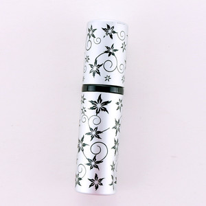 10ml maple leaf print matte mini empty refillable electrified aluminum airless spray pump bottle for perfume