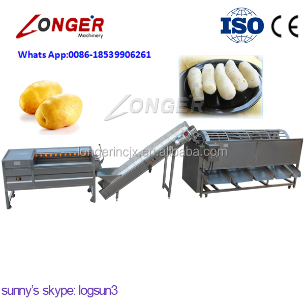 High Capacity Factory Price Fruit Cleaning and Grading Production Line