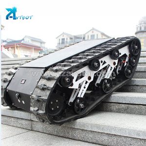 Small rubber track/rubber crawler/rubber track chassis system
