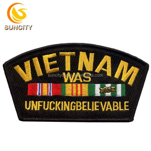 2017 Hotsale Custom Logo badge for vietnam was unfucking believable 100% embroidery patch for uniform