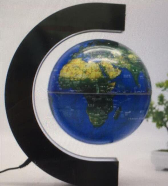 8inch floating globe rotating world map earth planet ball with c shaped magnetic