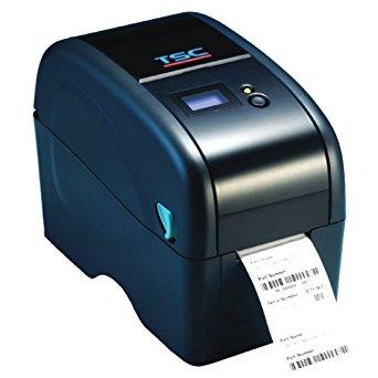 TSC 99-0400013-30LF Desktop Thermal Transfer Barcode Printer, TTP-323, Generic TT040-60, 300 dpi, 3 IPS, Micro SD Slot, RS232/USB, Peel Off