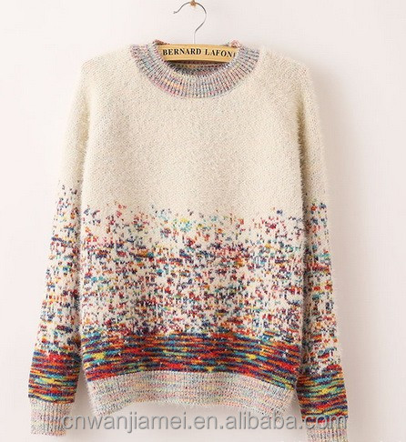 2017 Woman Pullover Sweater Organic Cashmere Sweater Cable Knit