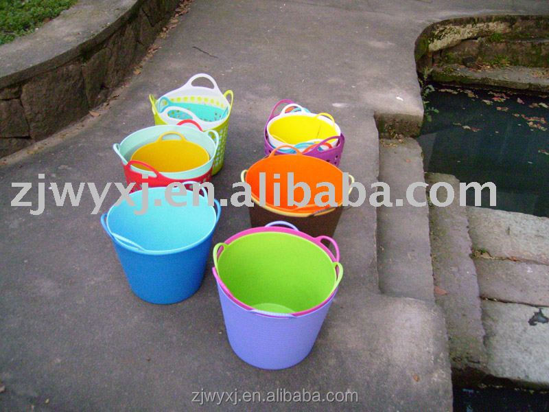 Flexible PE tubtrug,colorful garden tools/pots,storage buckets,new products