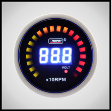 52mm Prosport Digital 28LCD Series Blue color number Tachometer RPM and Volt Gauge
