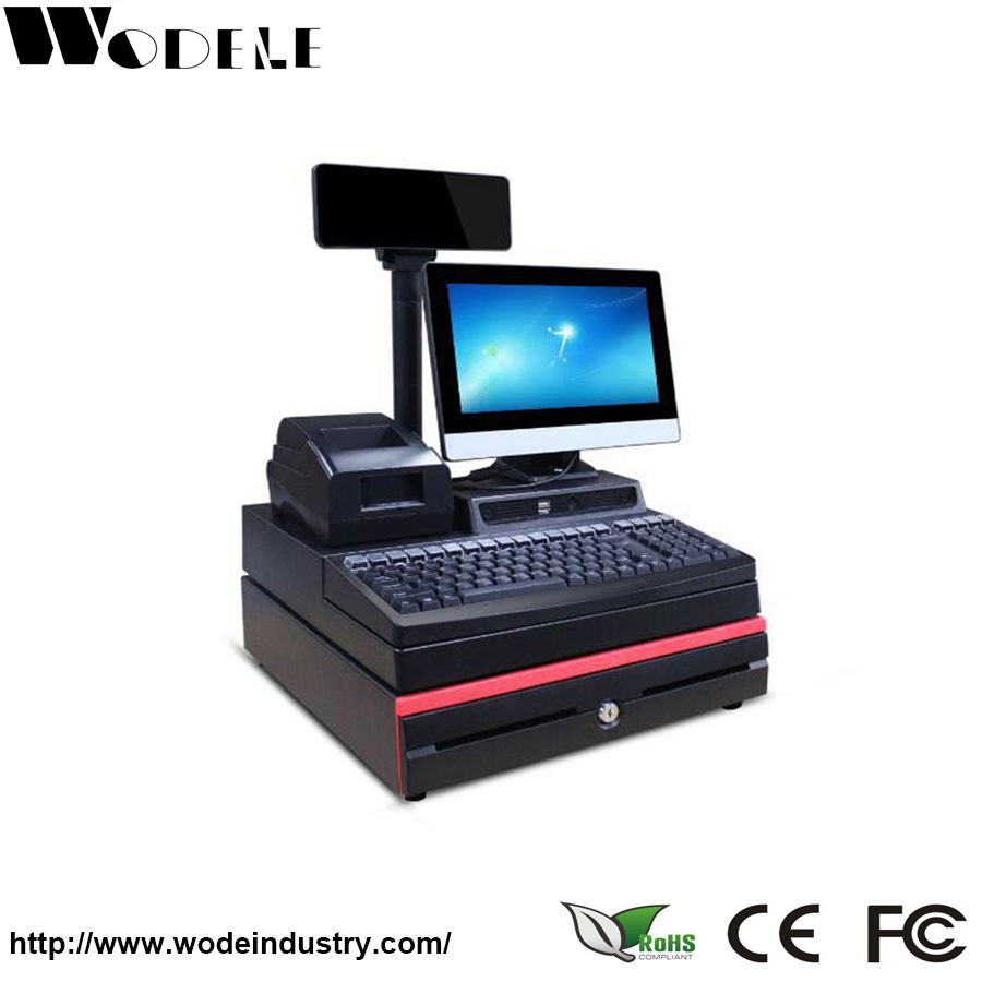 WD-9000Epos computer with 80mm pos printer/ cash drawer for retail