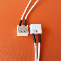 halogen lamp socket with silicon rubber wire halogen lamp bases
