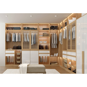 Designs White Paint Solid Wood Wardrobes Bedroom Wardrobe