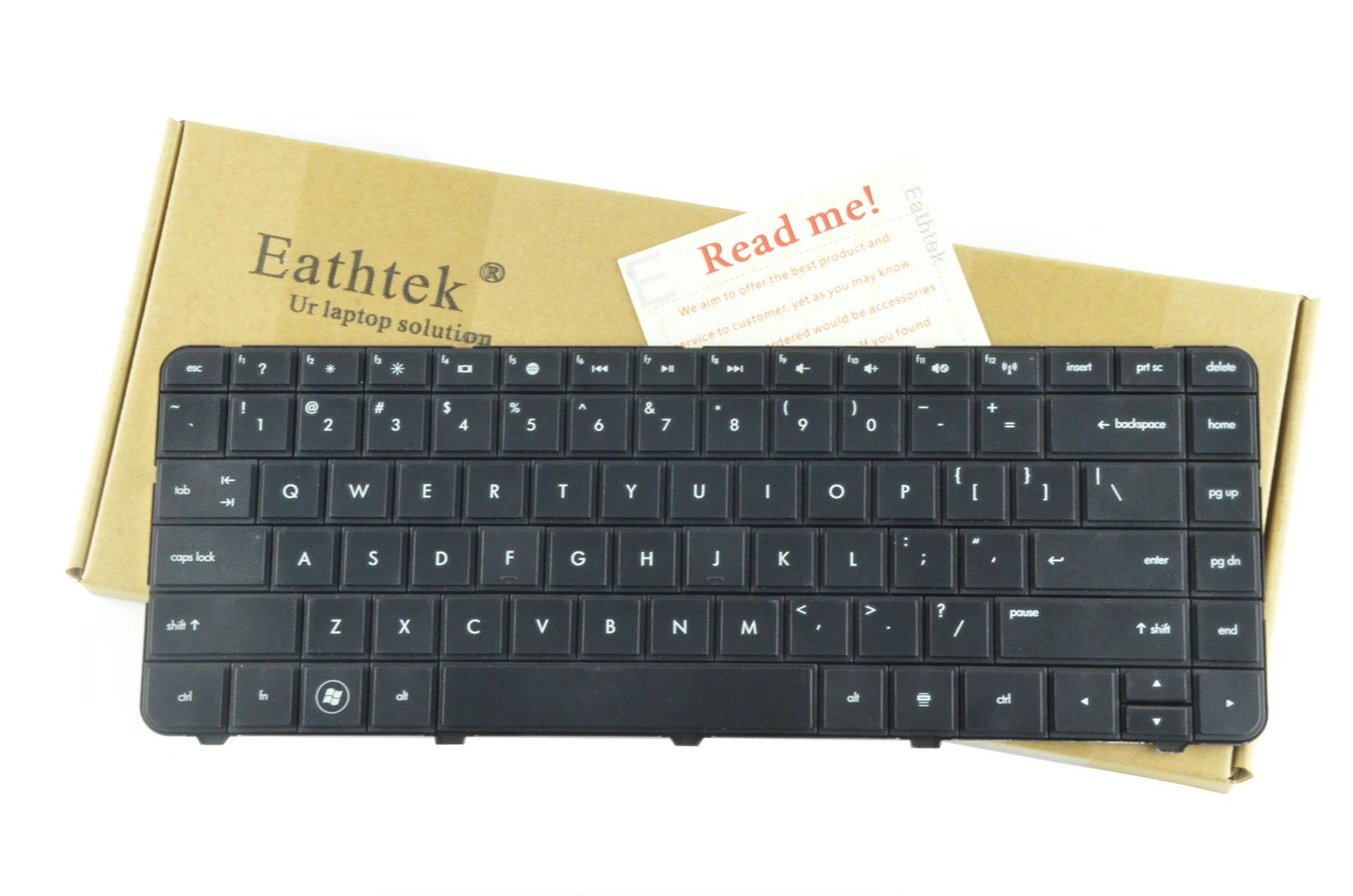Eathtek Replacement Keyboard for HP Pavilion G4 G6 G4-1000 Series Black US Layout, Compatible with part# 636191-001 640892-001 633183-001