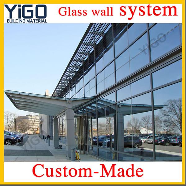 de vidrio sin marco las paredes exteriores de vidrio