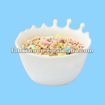 White Ceramic Custom Novelty Cereal Bowl